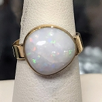 Freeform Australian Opal Gold Ring
